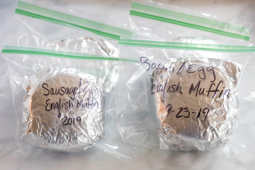 sandwich in freezer bags
