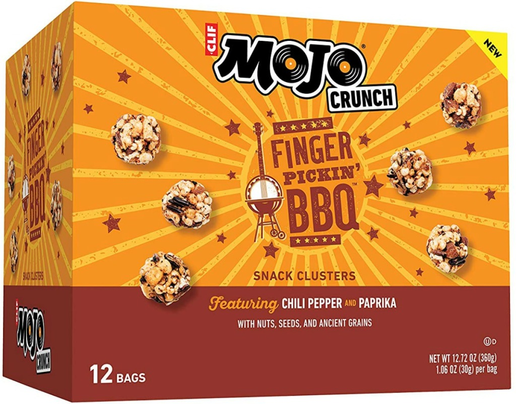CLIF bar brand crunchy snacks in BBQ flavor