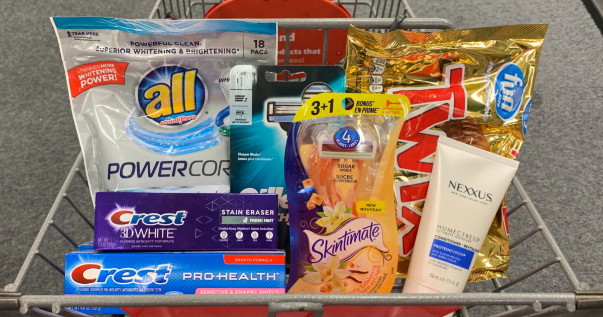 Basket of products from CVS