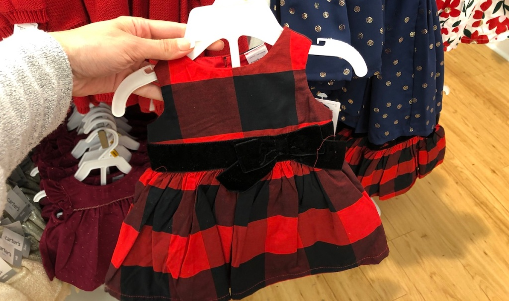 Carter's Christmas Dress on hanger