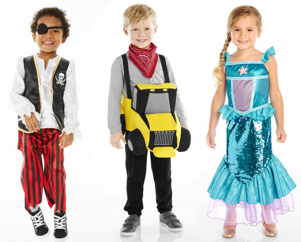 Carter's Toddler Halloween Costumes - tractor, mermaid, pirate