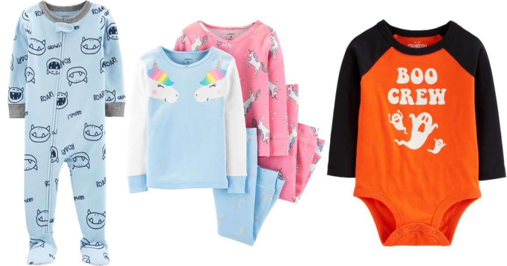 3 pairs of carters pajamas