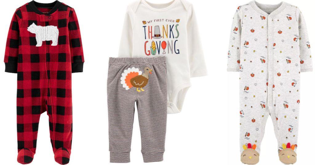 Carter's holiday pajamas