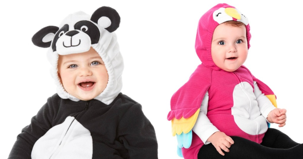 Carter's panda and parrot Halloween costumes