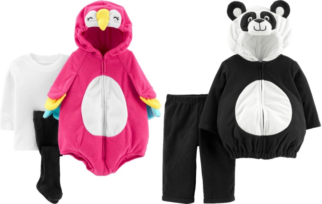 Carter's parrot and panda costumes