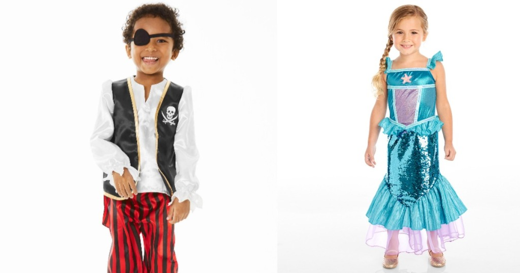 Carter's pirate and mermaid Halloween costumes