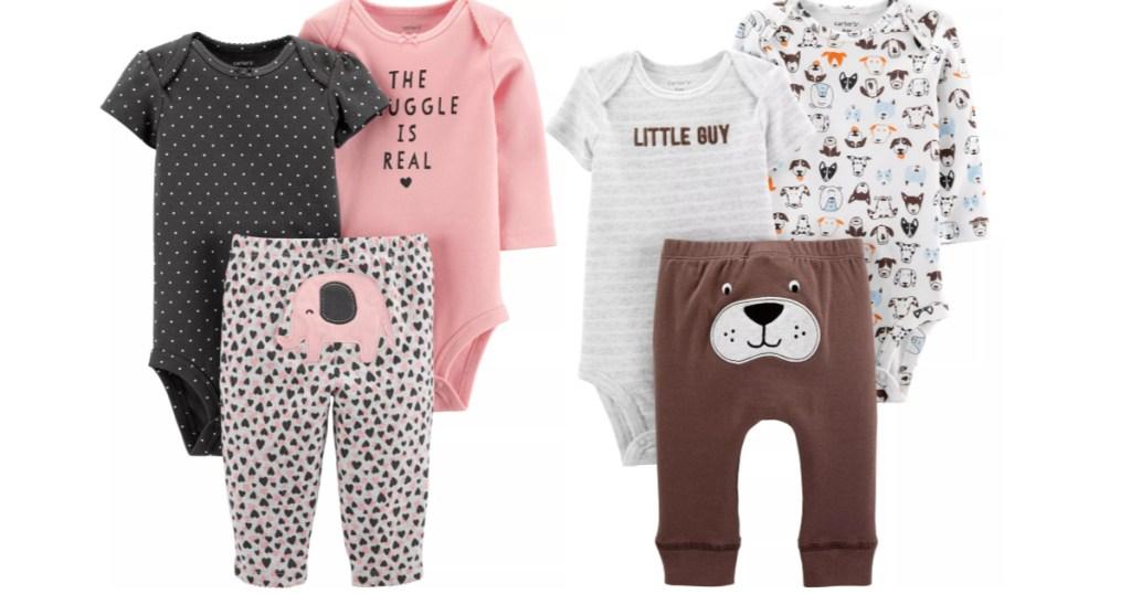 Carters sleepwear 3-piece sets