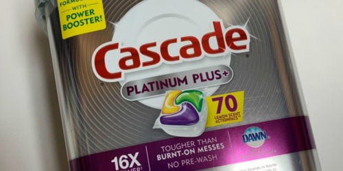 Cascade Platinum Plus 70-Count Dishwasher ActionPacs Only $13.99 Shipped at Amazon