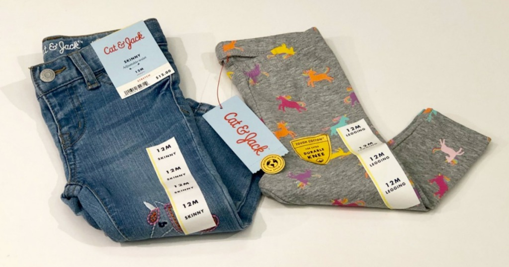 Cat & Jack Leggings and Jeans on Target counter