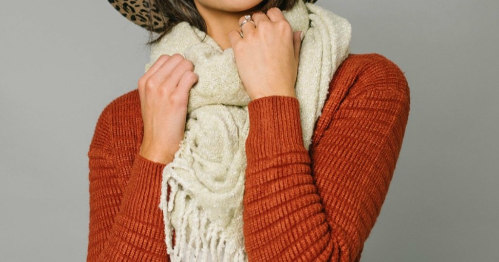 Cents of Style Cardigan and Scarf-2