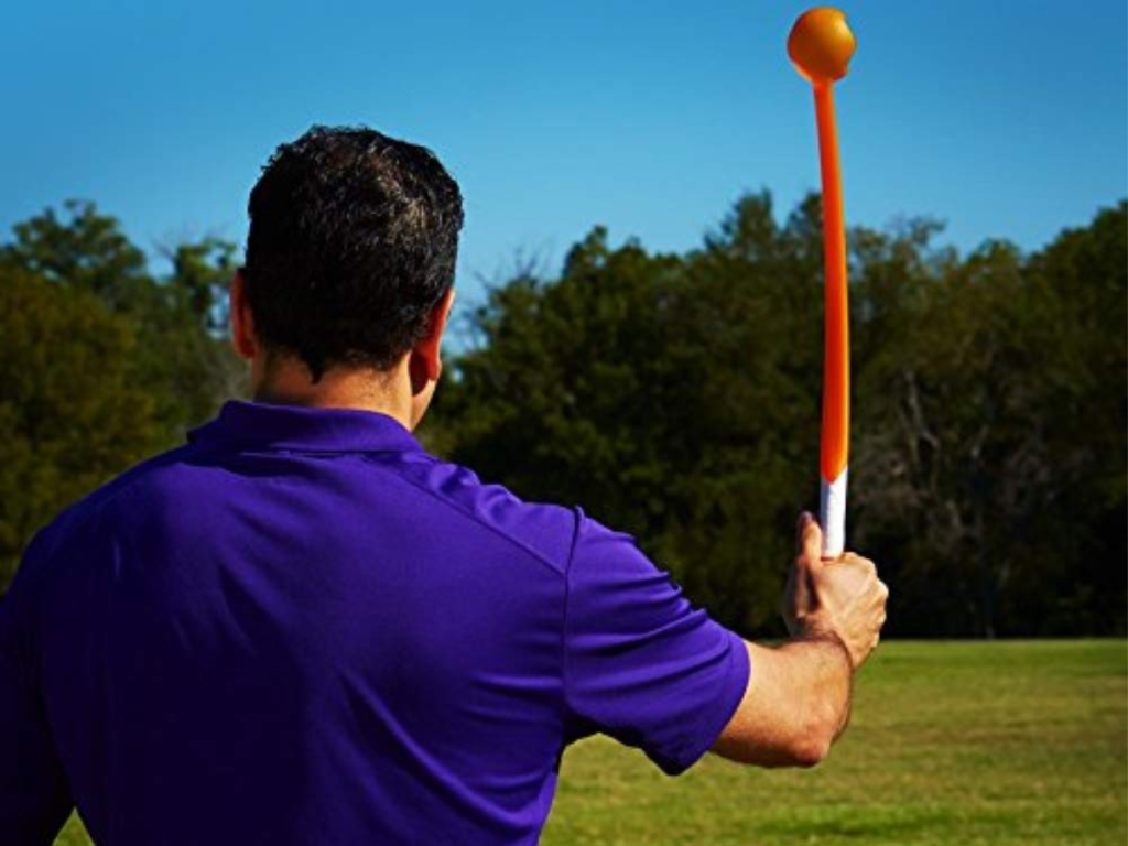 man using launch it dog toy outdoors