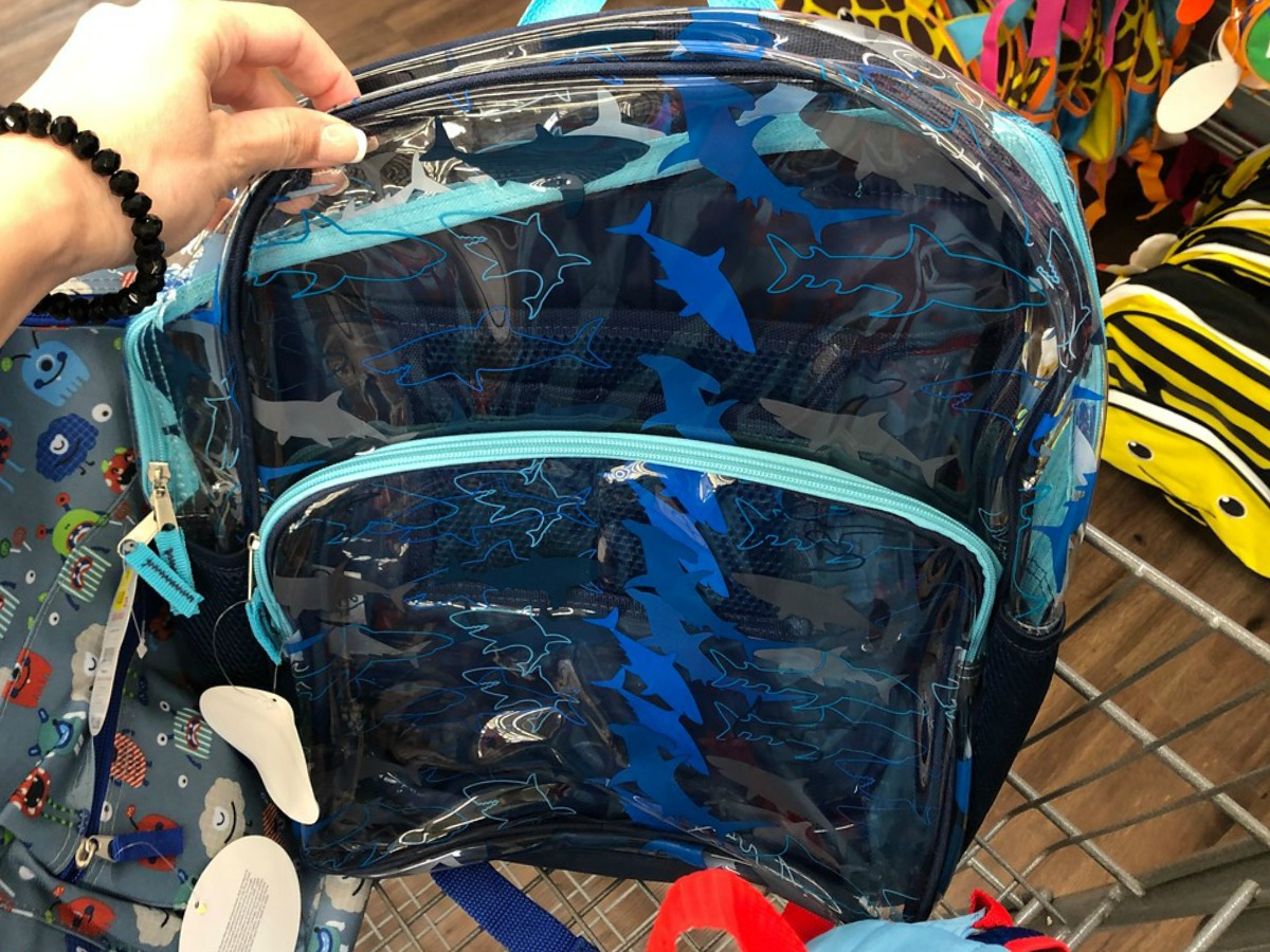 Clearance Clear Shark Backpack at Walmart