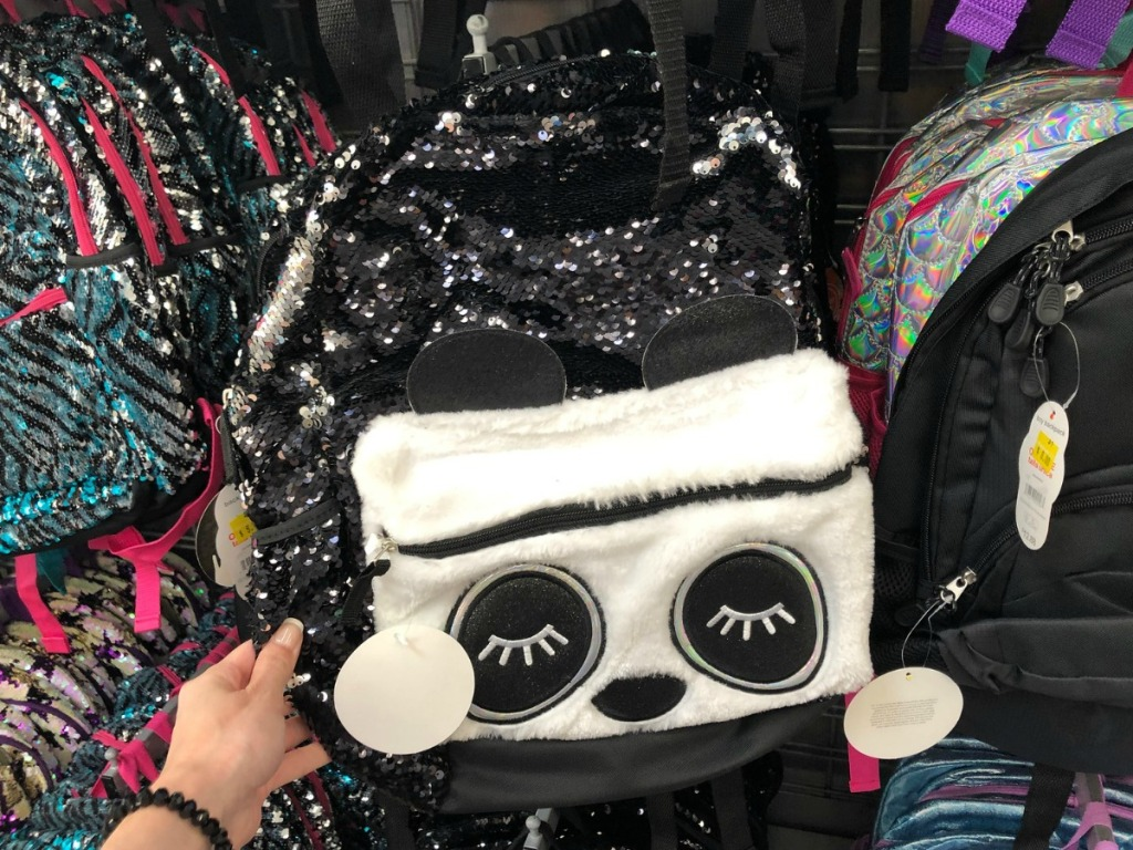 Clearance Sequin Panda Backpack at Walmart