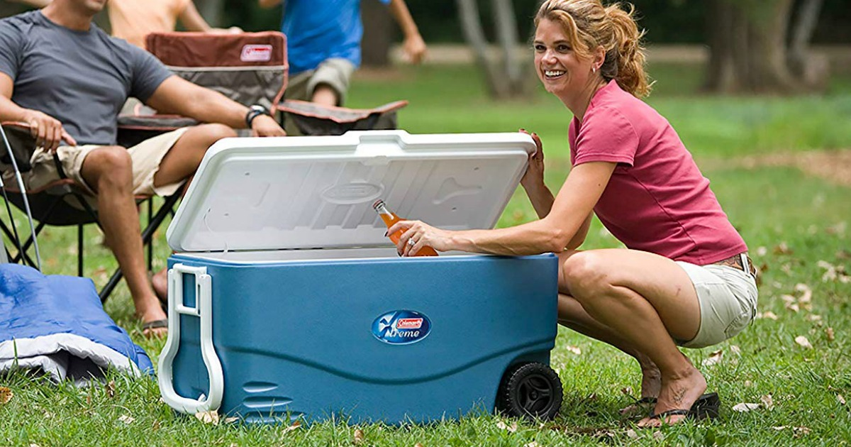 Coleman Xtreme Wheeled 100 Quart Cooler Just 45 Shipped