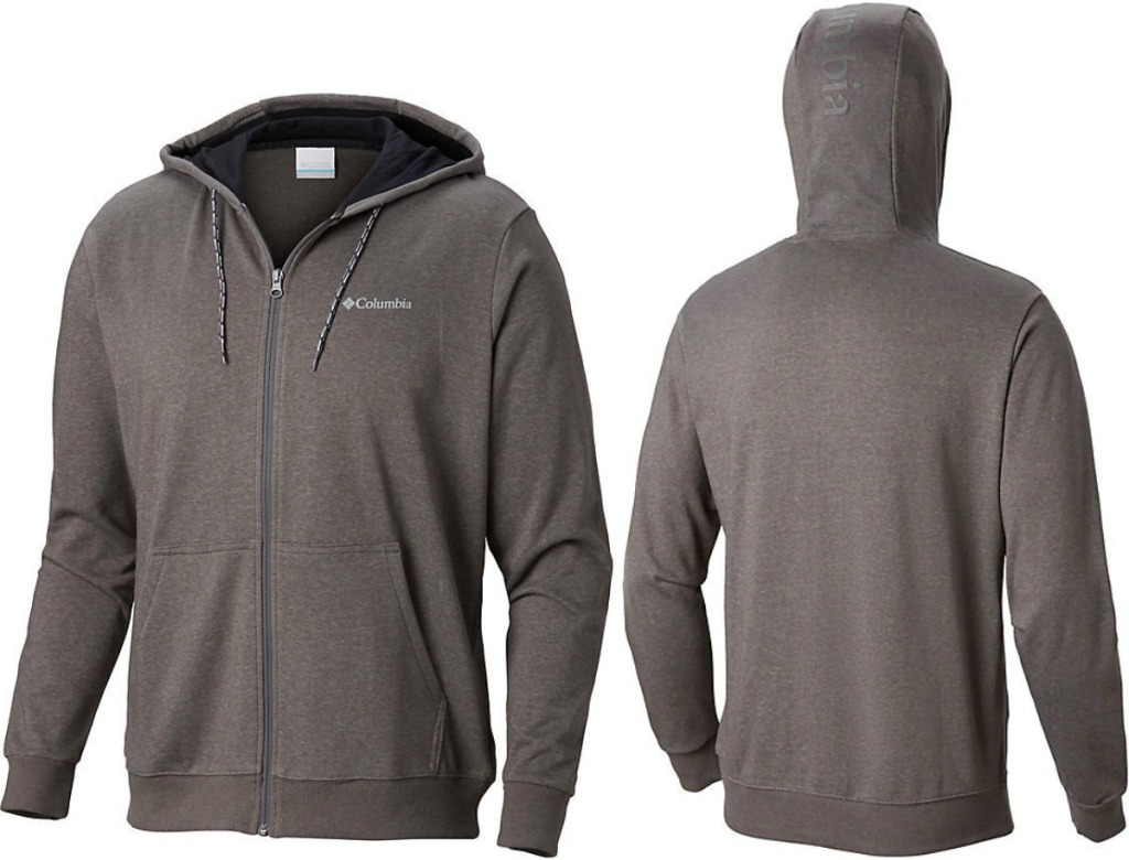 Columbia brand men's hoodie - front and back view