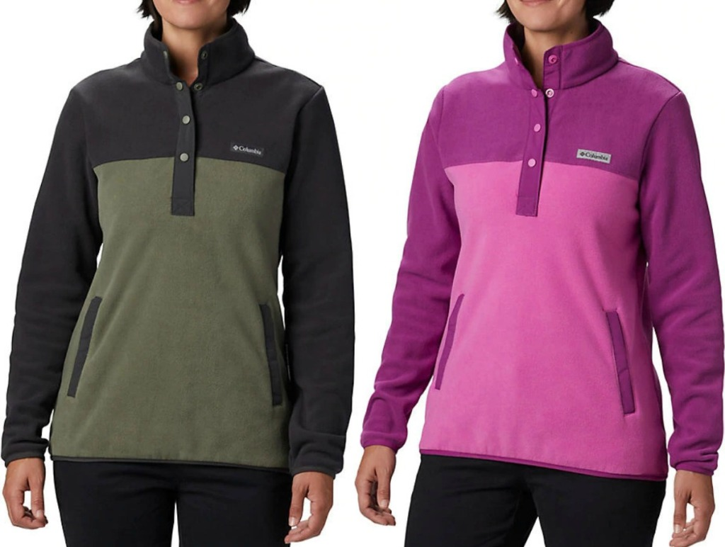 Columbia brand women's pullover fleece jackets