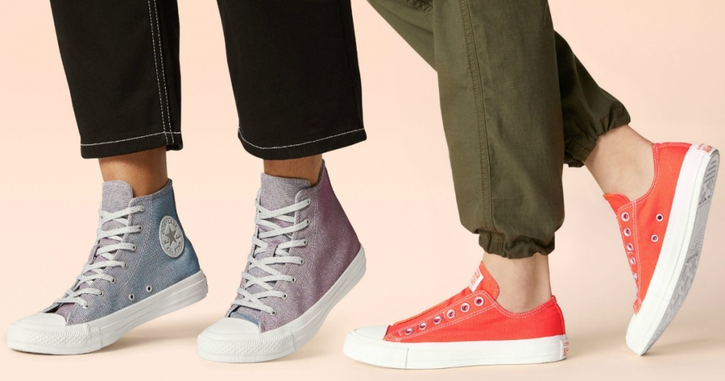 Two styles of Women's Converse Shoes