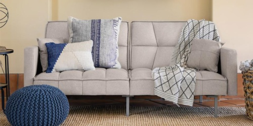 Convertible Tufted Futon w/ Split-Back Design Only $159.99 Shipped (Regularly $364)