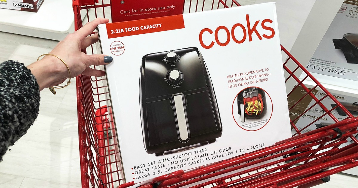 Woman with Cooks Air Fryer in JCPenney cart