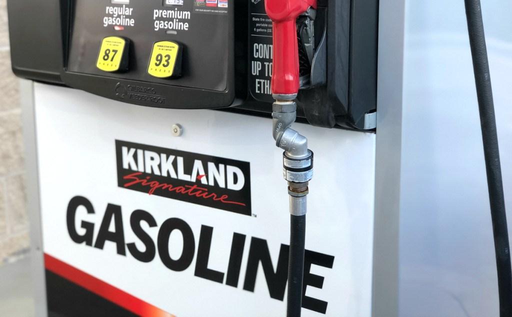 Costco Kirkland Signature gasoline pump