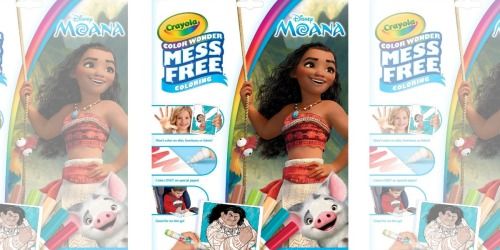 Disney Moana Crayola Color Wonder Coloring Pages & Markers Only $3.50 at Amazon (Regularly $8)