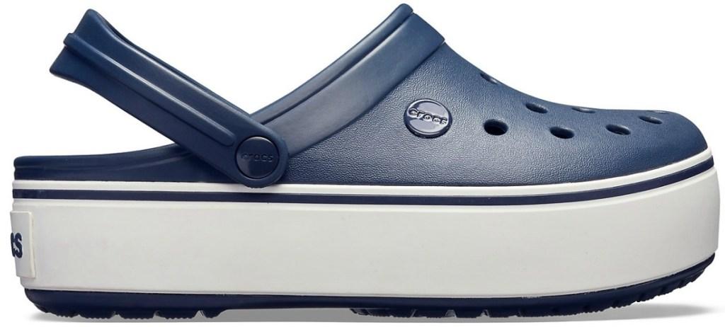 Crocs Platform Clogs in dark blue