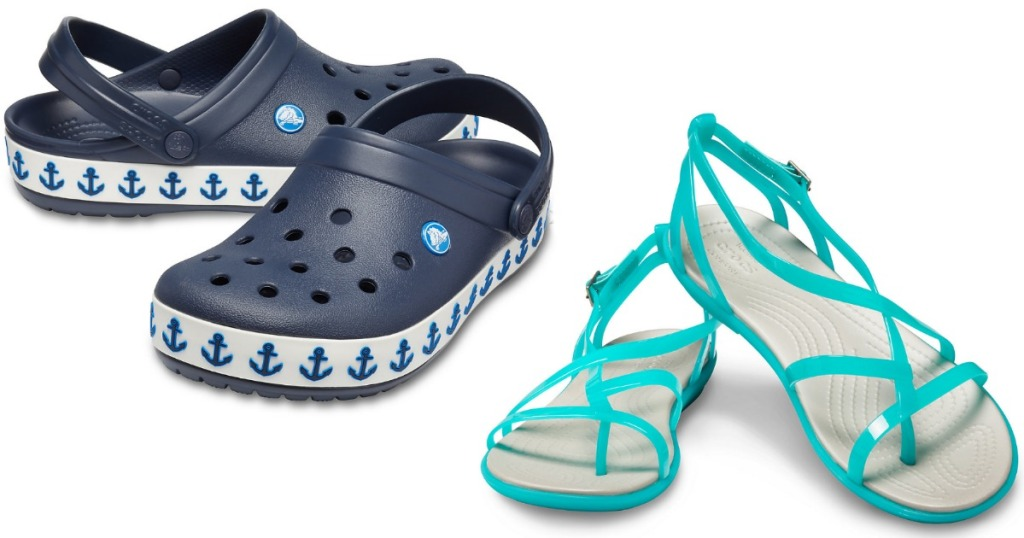 Crocs anchor clogs and gladiator sandals