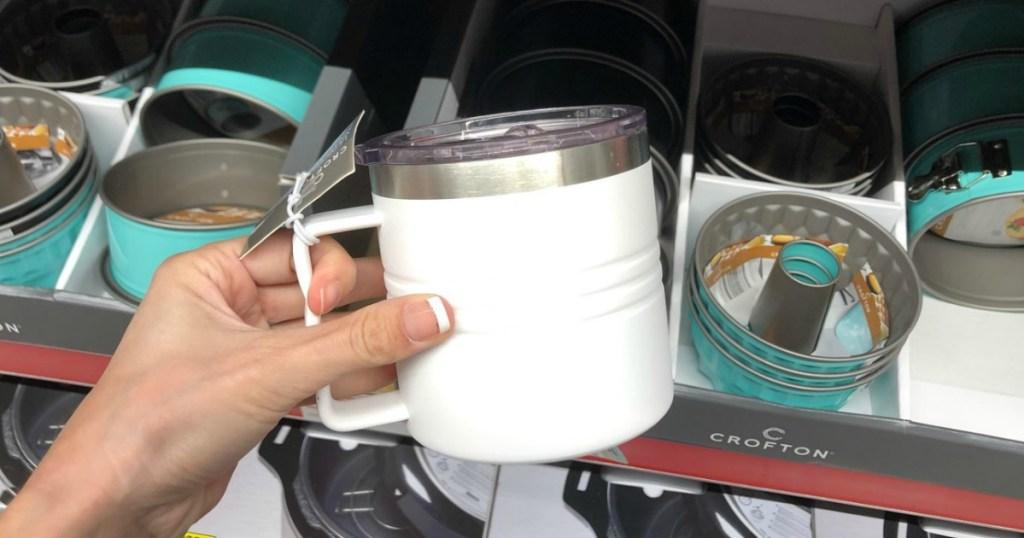 Crofton Travel Mug in white