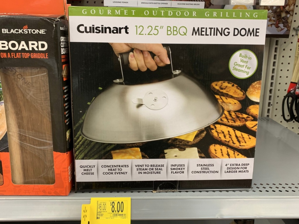 """Cuisinart® 12.25"""" Stainless Steel BBQ Melting Dome with Steam Vent"""