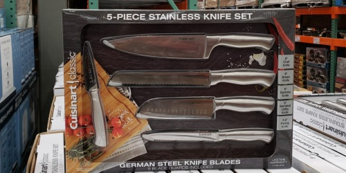 Cuisinart 5-Piece Stainless Steel Knife Set Only $19.99 at Costco