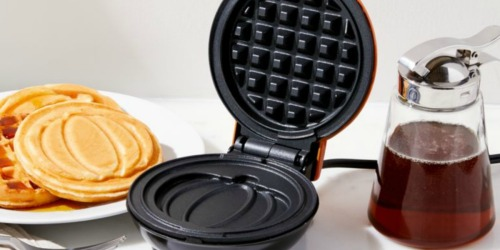 DASH Pumpkin Mini Waffle Maker as Low as $7.99 (Regularly $15)