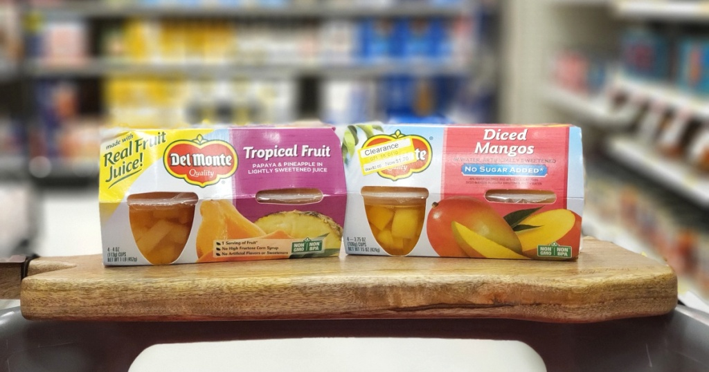 2 boxes of del monte fruit cups at target