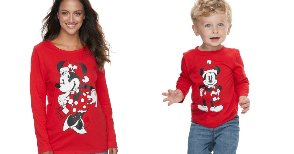 people wearing Disney Mickey and Minnie Matching Tees