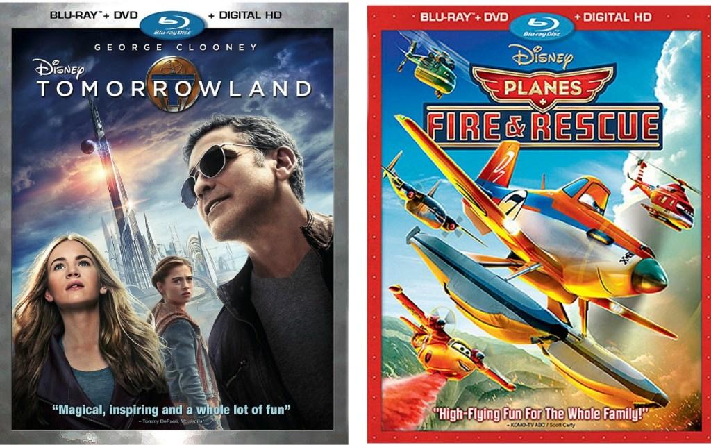 Two Disney Blu-ray movies in case - Tomorrow Land