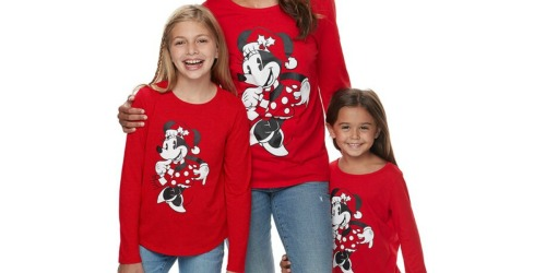 Up to 55% Off Disney Christmas Matching Tees at Kohl's