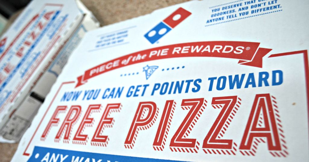 Dominos pizza box