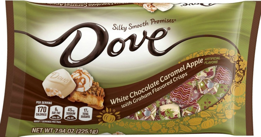 Bag of Dove Promises White Chocolate Caramel Apple candies