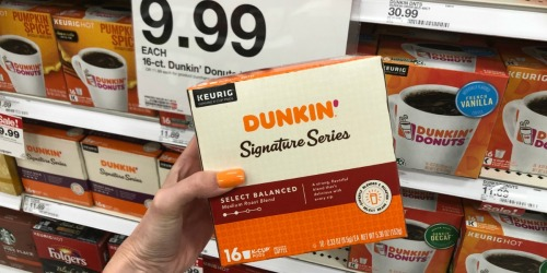 Up to 45% Off Dunkin' K-Cups or Ground Coffee After Cash Back at Target