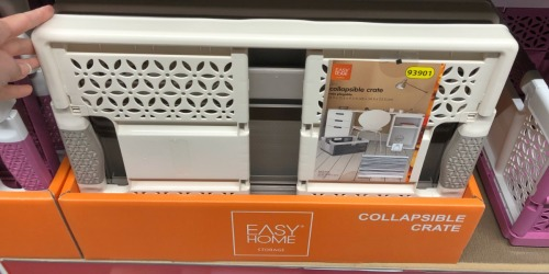 ALDI Laundry Room Deals: Collapsible Crate & Comfort Mats Just $7.99 Each