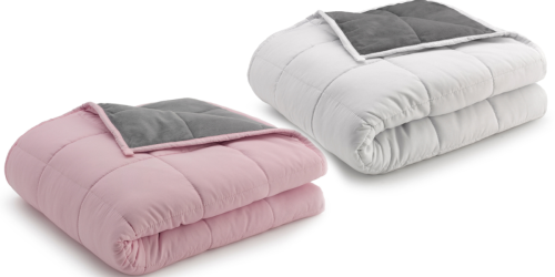 Reversible Weighted Blankets Only $34.99 at Zulily   Available in 12 or 15-Pounds