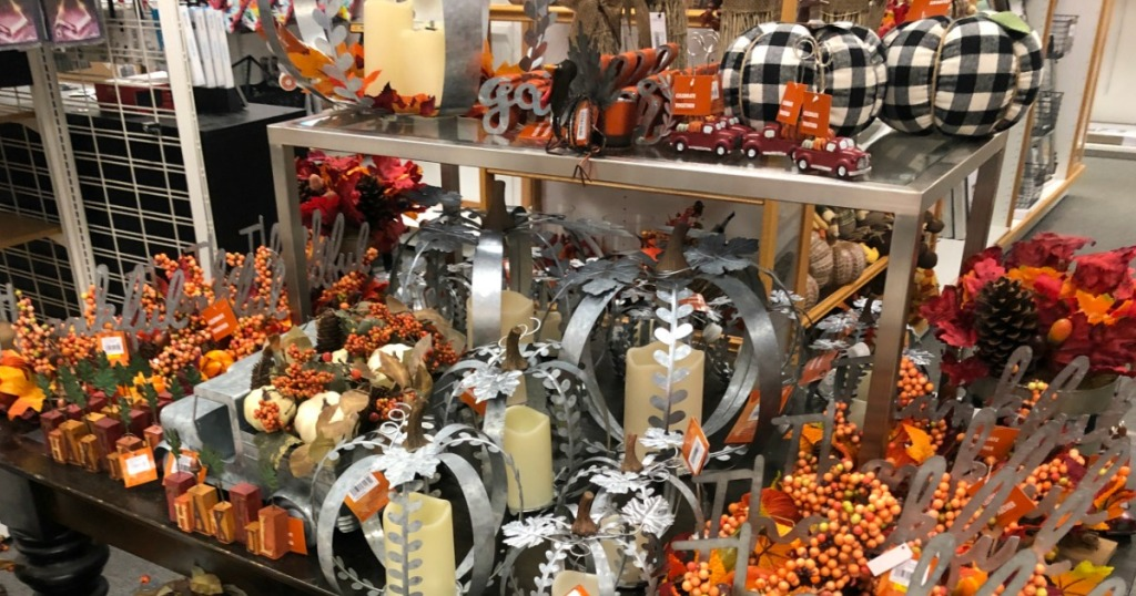 Fall Decor at Kohl's on table