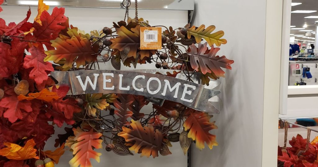 Fall leave welcome door sign at kohls
