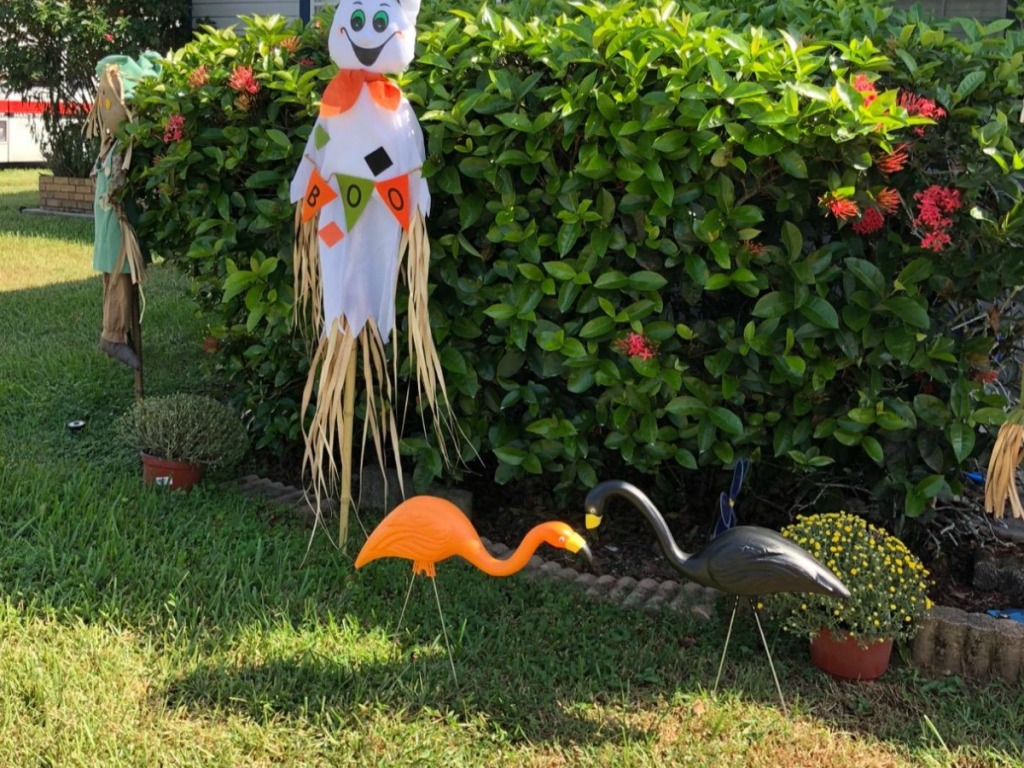 Flamingo Halloween Yard Decor