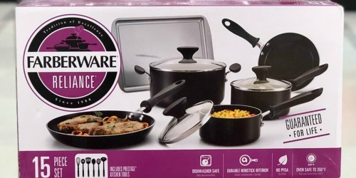 Farberware 15-Piece Set as Low as $15.99 Shipped at Kohl's (Regularly $120) | After Rebate
