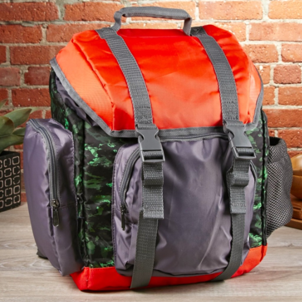 Fit & Fresh Bag in red and army print