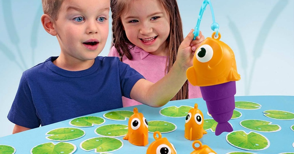 kids playing the Five Little Fish Game