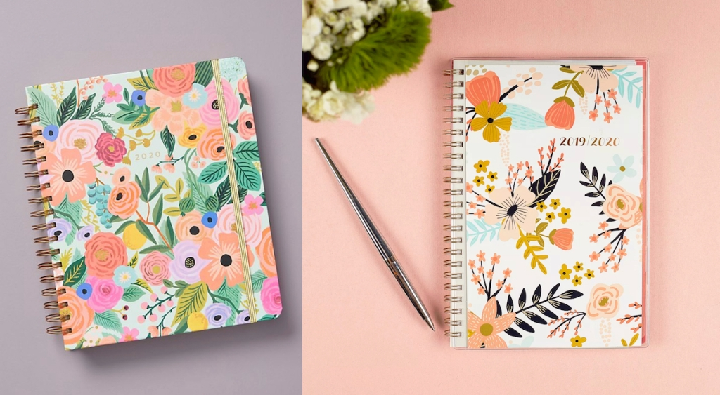 Two floral planners for 2020