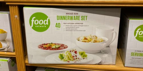 Food Network 40 Piece Stoneware Dinnerware Set Only $33.99 (Regularly $120) + Earn $5 Kohl's Cash