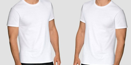 Fruit of the Loom Men's Stay Tucked T-Shirts 6-Pack Just $10.49 on Amazon | Only $1.75 Each