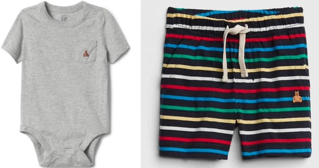 GAP Baby Bodysuit and Shorts